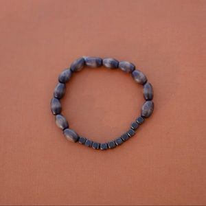 Jewelry - Wood and antique bead bracelet